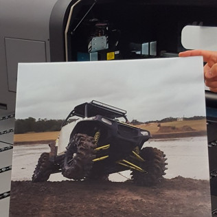 Print your pictures larger and on foam board