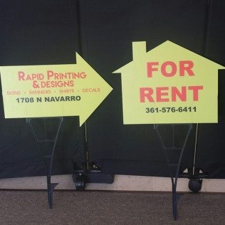 For sale signs and Directional Arrow signs